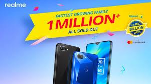Realme sold more than 1 million smartphones in Flipkart Big Billion Days