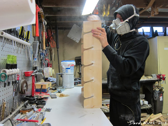 sanding spackle, dust mask