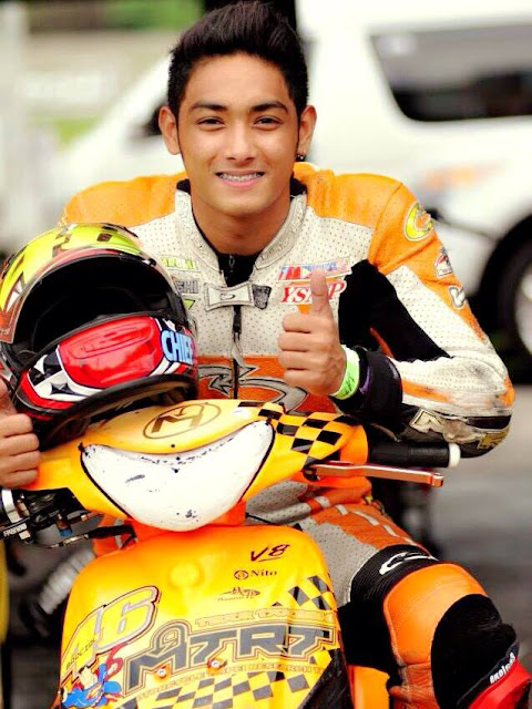 Race track heartthrob James Christopher 'King James' Barcial steals thunder in motocross world