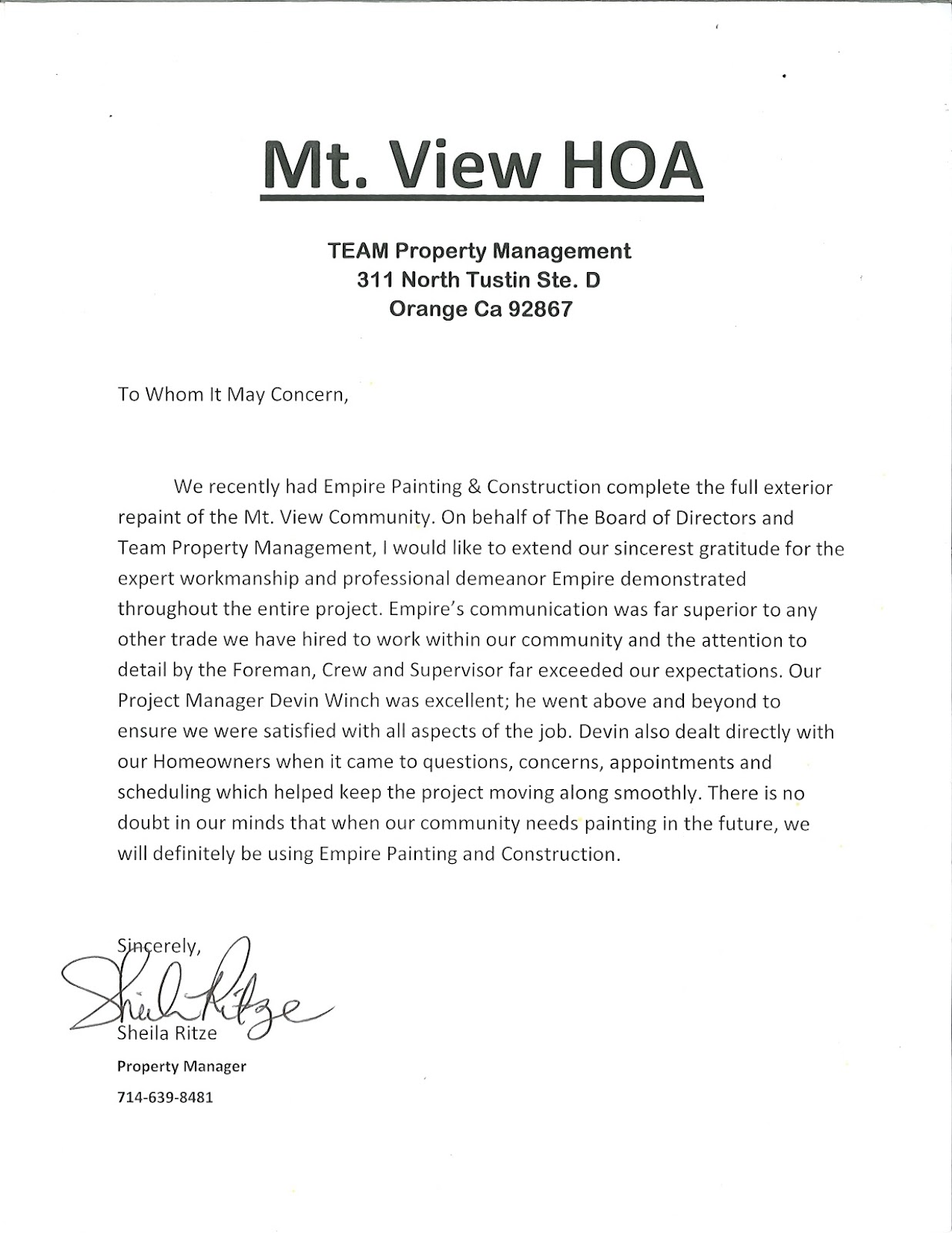 Mt+View+HOA Sample Hoa Violation Letter Template on for smoking, homeowner regarding, structure completion template free, trash can, how respond, for motorhome, deed restriction,
