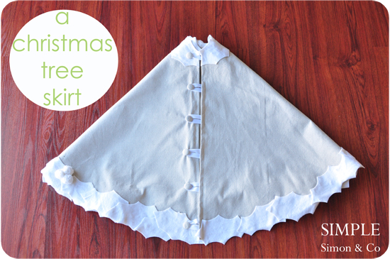 How to make a tree skirt u the daily sew