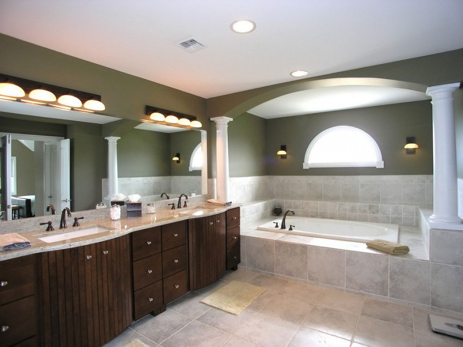 Bathroom Magnificent Led Bathroom Lighting Behind Mirror Also Ceiling Lamp Alongside Brown Towel Feat Wooden Email
