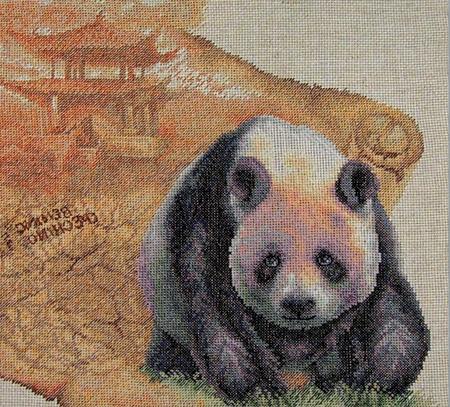 Панда вышивка скачать