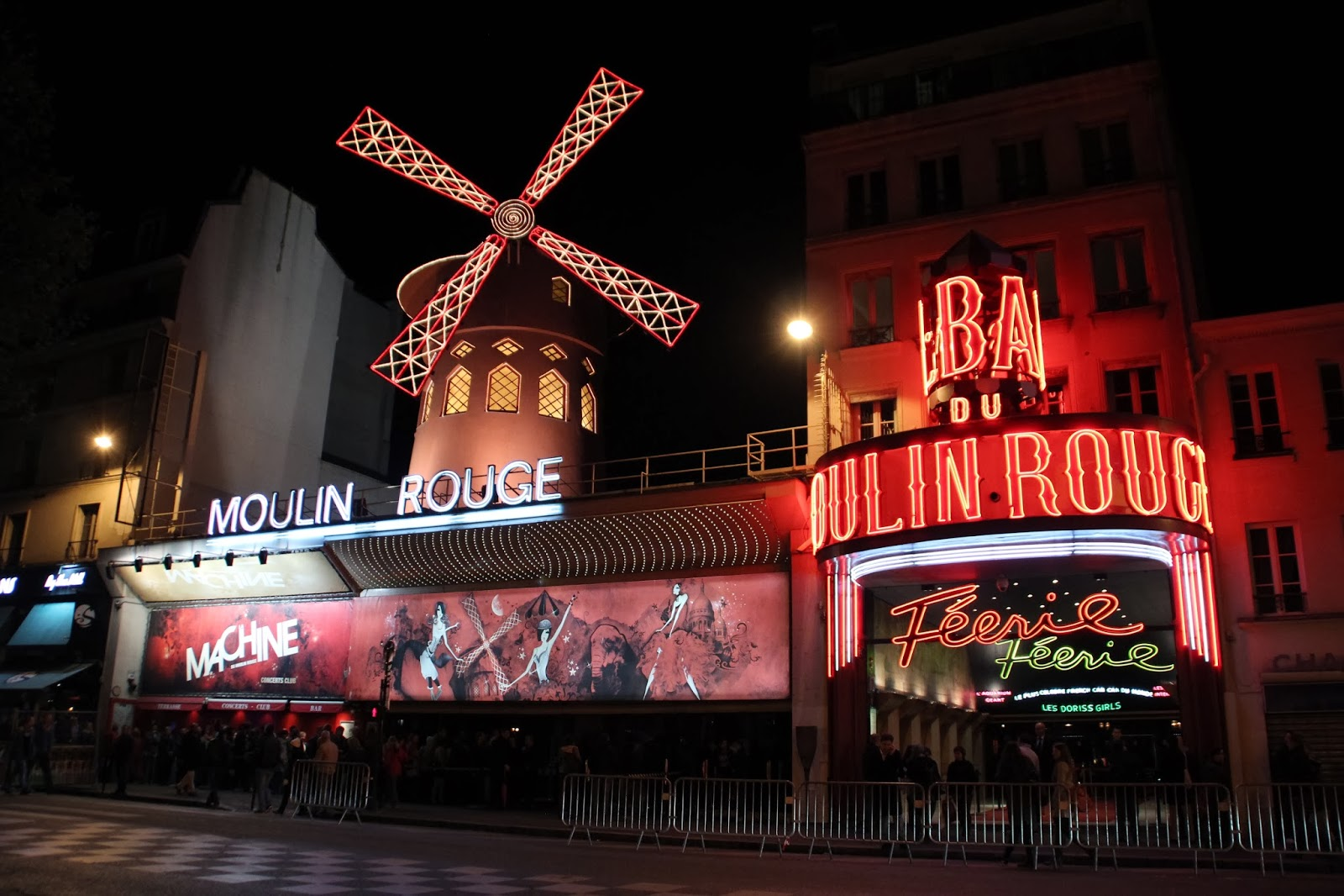 Moulin Rouge by Night