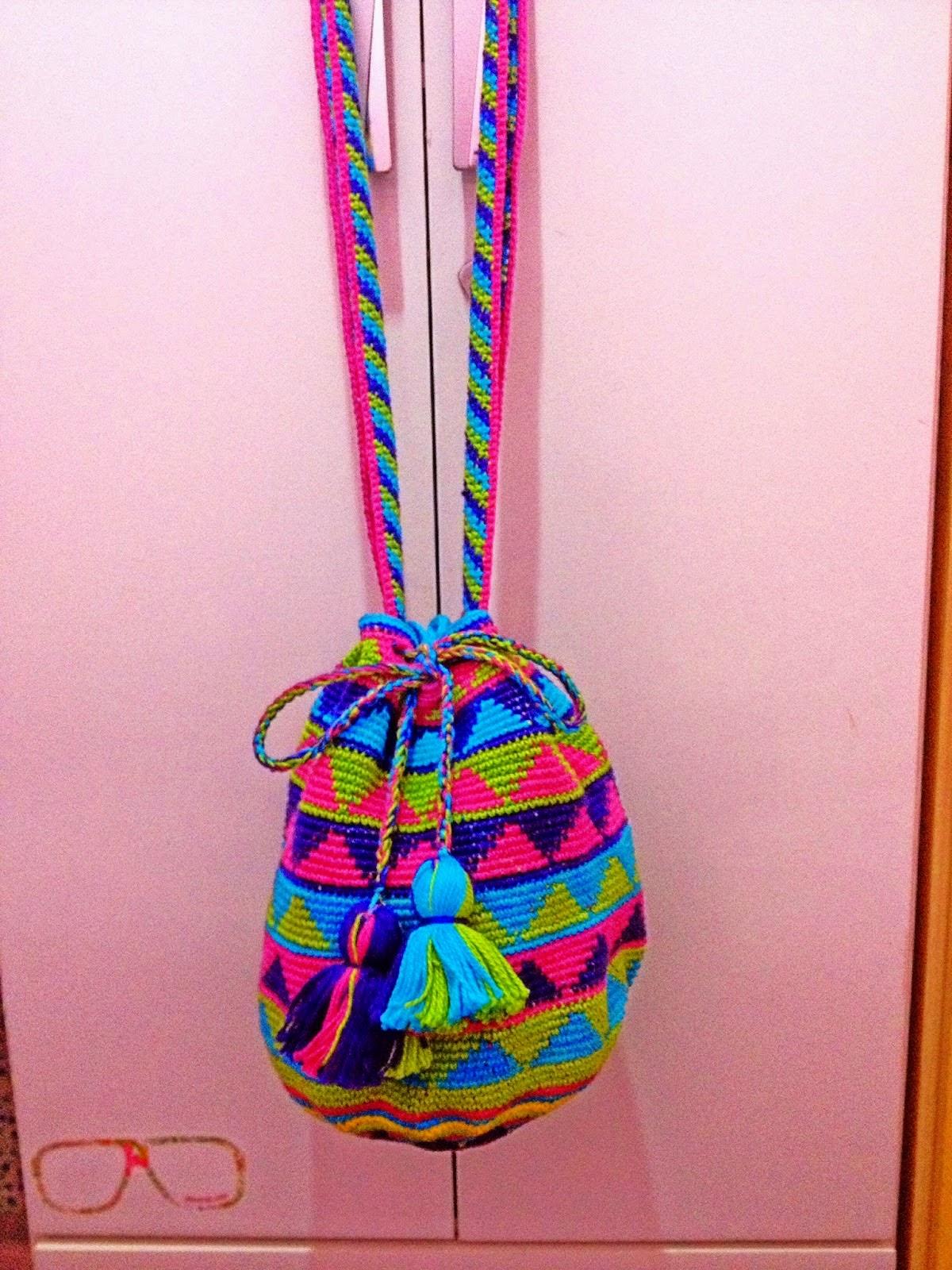 3cf9b99e0 Wayuu bag crochet - Bolsas colombianas em crochê passo a passo ...