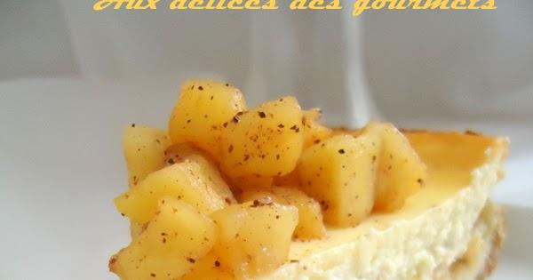 Aux délices des gourmets: CHEESECAKE AUX POMMES CARAMÉLISÉES