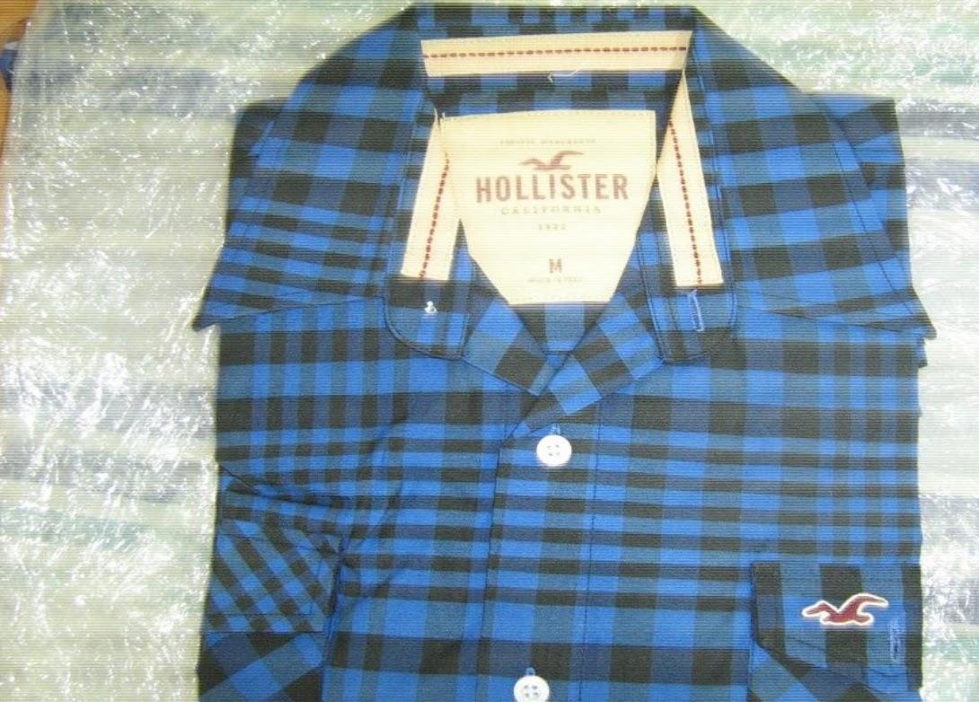 Polo Xadrez Hollister f6a89410c6c7a