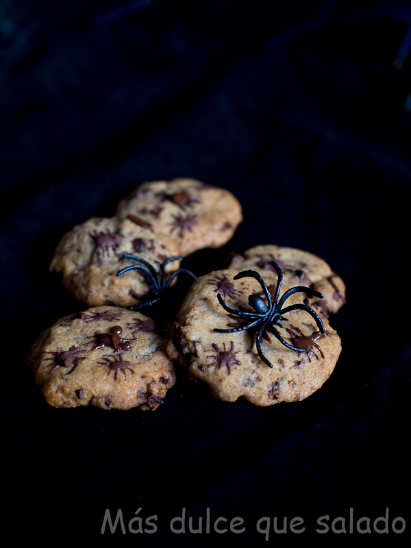 Cookies con arañas. Receta de Halloween