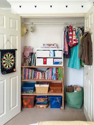 Organised kids closet
