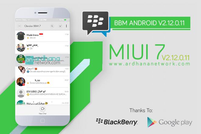 BBM Miui 7 V2.12.0.11 - BBM Android Tema MIUI Xiaomi