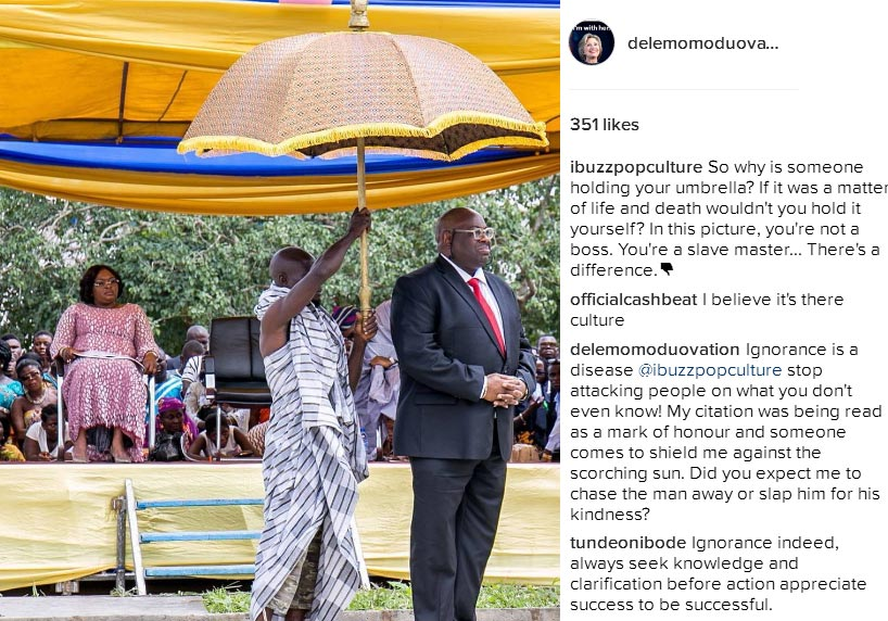Dele Momodu claps back at follower over umbrella
