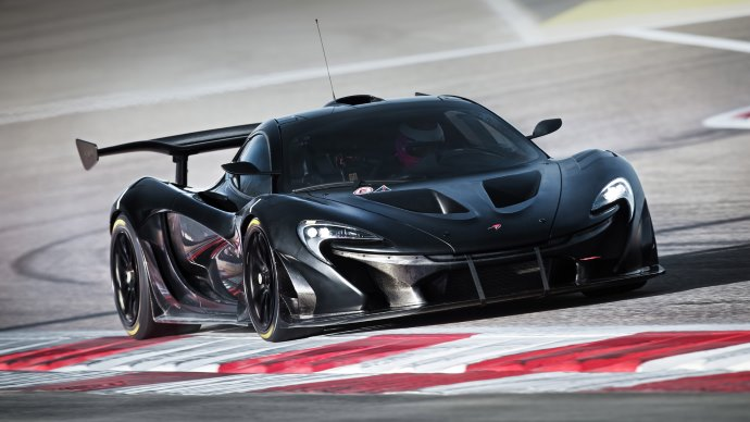 Wallpaper: McLaren P1 GTR Prototype on Track