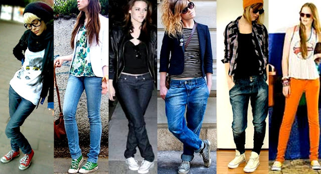 looks all star com jeans