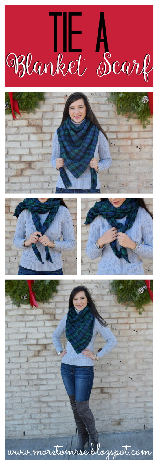 How to Tie a Winter Scarf (Part 2 Square Blanket Scarf!)