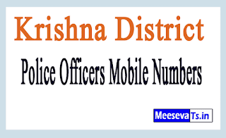 Krishna District Police Officers Mobile Numbers