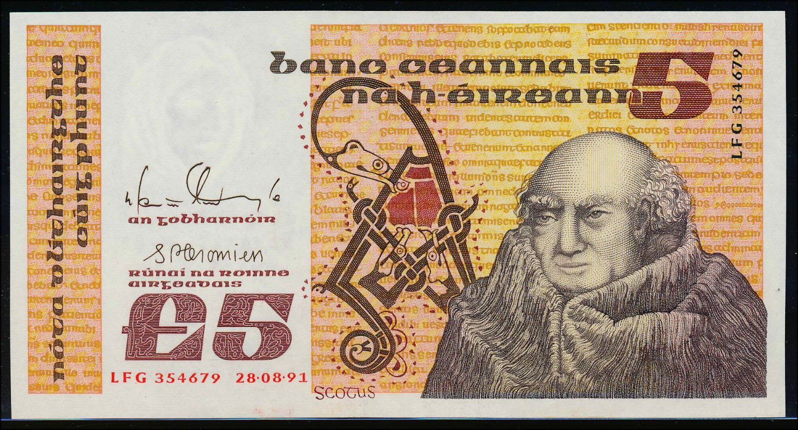 Irish 5 Pound Note