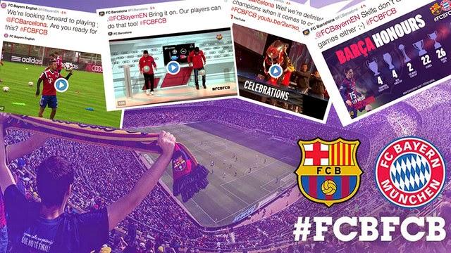 El Barça y el Bayern se pican en las redes