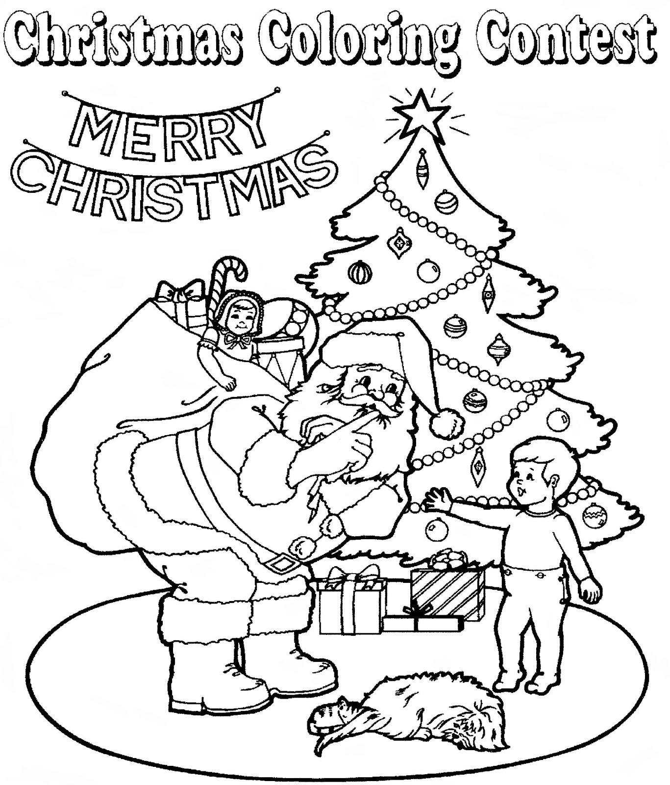 Mostly Paper Dolls Too Christmas Coloring Contest