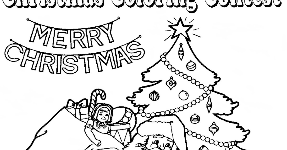Mostly Paper Dolls Too!: Christmas Coloring Contest
