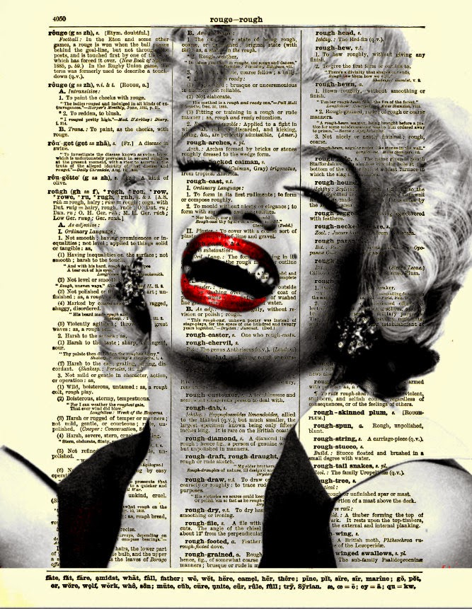 12-Marilyn-Monroe-Belle-Old-Books-and-Dictionaries-in-Re-Imagination-Prints-www-designstack-co
