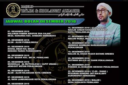 Jadwal Az Zahir Bulan Desember  2018 Terbaru