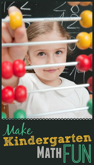 Make Kindergarten Math Fun - so many fun, clever ideas to help kids learn math in a fun, natural, easy way with math book, math games, and so much more (preschool, prek, kindergarten)