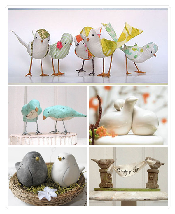 De Lovely Affair: Love Birds Decor: Wedding Trend