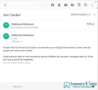 Checker Plus for Gmail : add-on Firefox pour Gmail