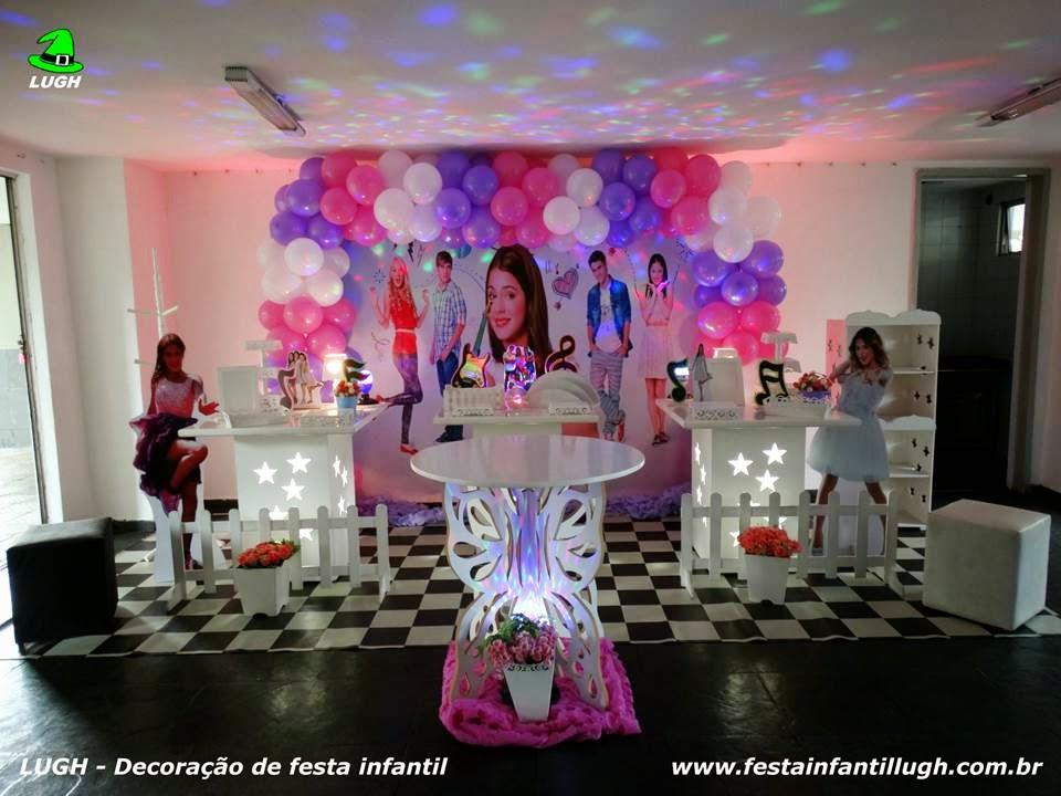 Decoração  Violetta para festa de aniversário infantil - mesa decorada provençal para festa de meninas