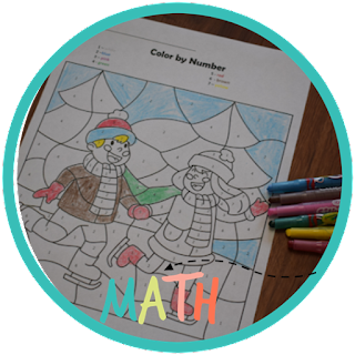 winter color by number worksheets
