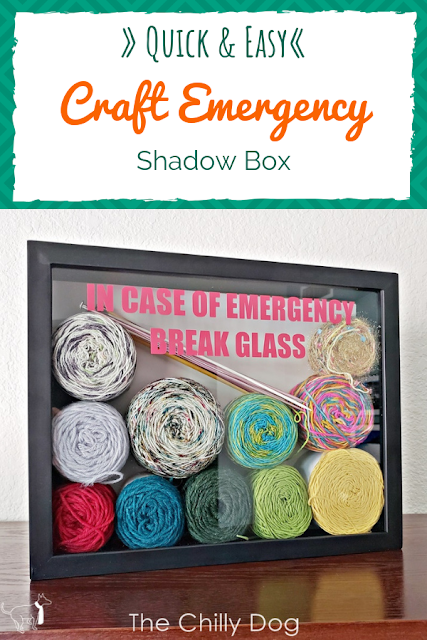 Stash Buster Project and Gift Idea: Personalized yarn, craft or hobby emergency shadow box