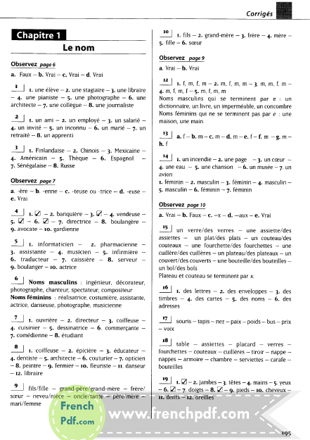 Les 500 exercices de grammaire A1 - livre + corrigés intégrés pdf gratuitement