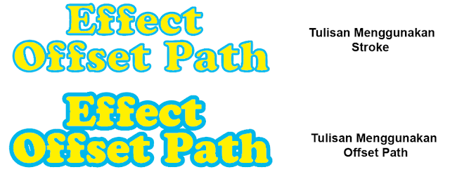 Cara Praktis Menguasai Effect Offset Path Adobe Illustrator Non Editable 2 Cara Praktis Menguasai Effect Offset Path Adobe Illustrator Non Editable