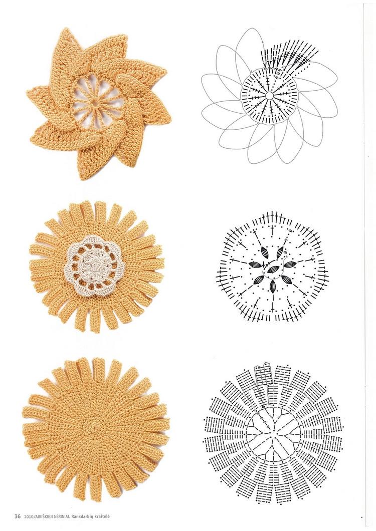 Apliques Crochet Patrones - Hogar Y Ideas De Diseño - Feirt.com