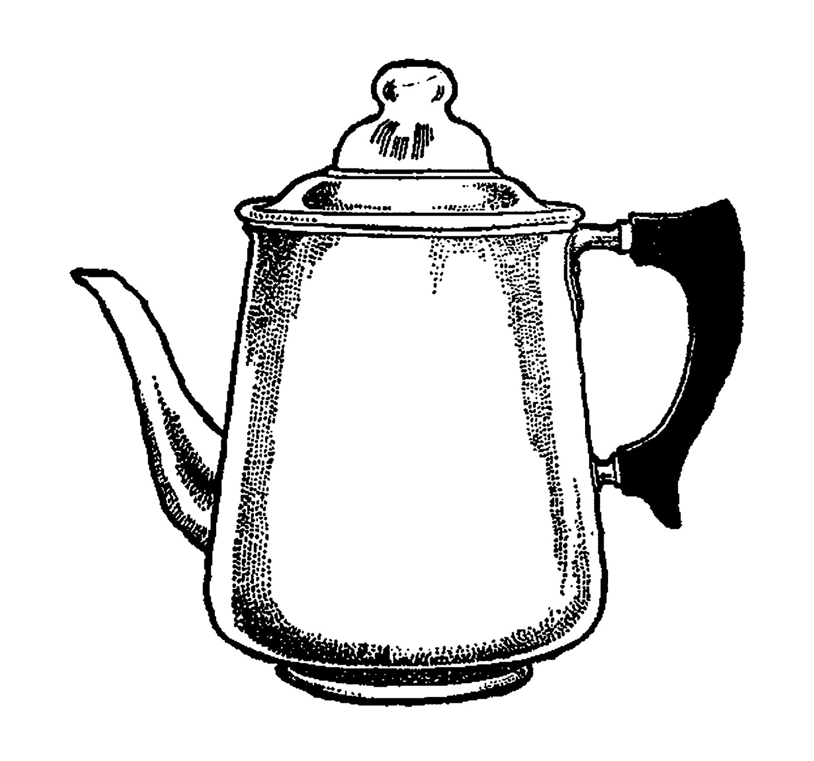 digital stamp design vintage drawing coffee pot digital clipart rh digitalstampdesign blogspot com Steaming Coffee Cup Clip Art Coffee Break Clip Art