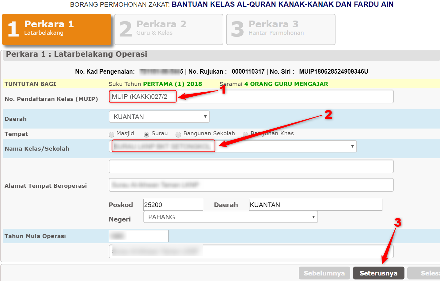 Panduan Daftar Online Sistem Tuntutan Bantuan Muip Bagi Kelas Kafa Negeri Pahang Persatuan Guru Guru Sar Kafa Daerah Kuantan