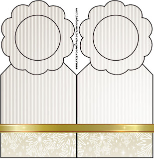 Gold and Grey Free Printable Bookmarks.