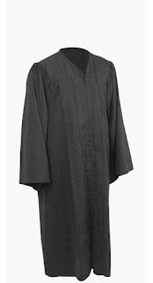 Graduation Gown, black