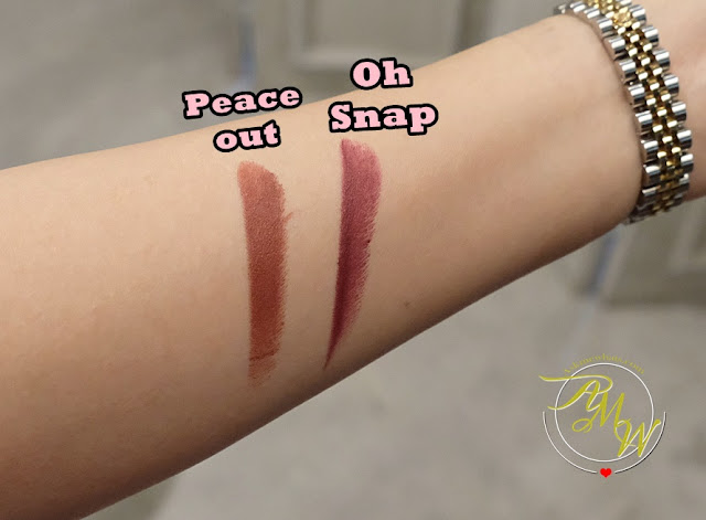 a swatch photo of BLK 90s All-Day Intense Matte Lipsticks