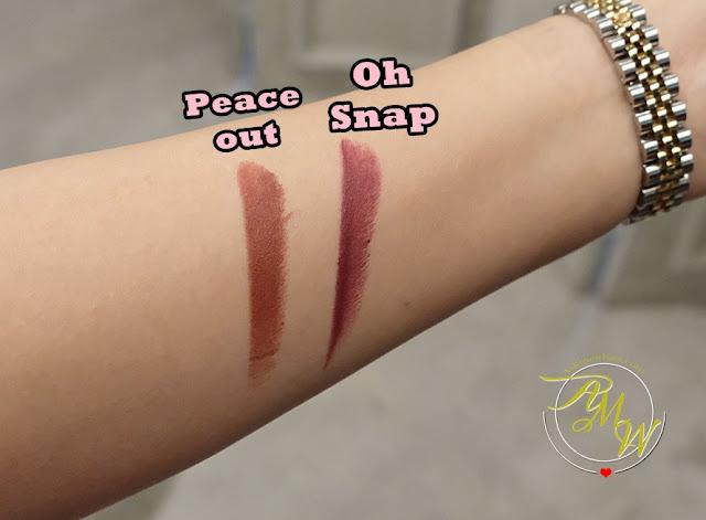 a swatch photo of BLK 90s All-Day Intense Matte Lipsticks