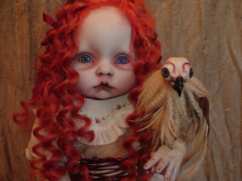 Haunting Taxidermy Doll Sculptures By Stefanie Vega Make