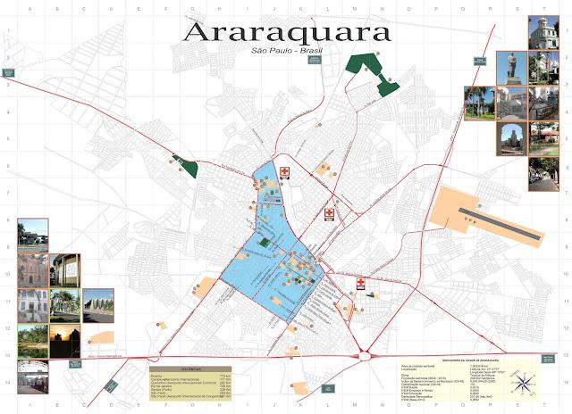 Mapa da cidade de Araraquara - SP