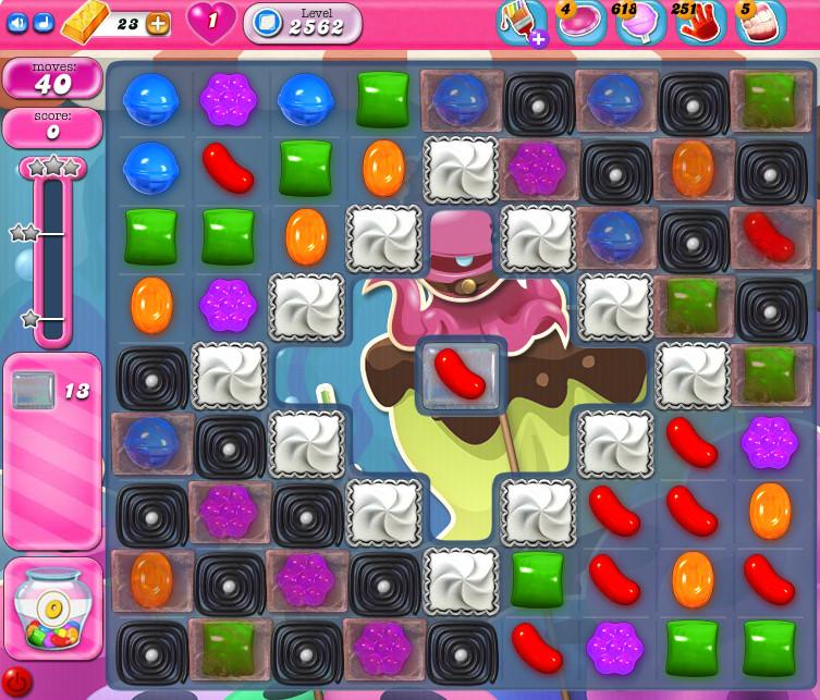 Candy Crush Saga level 2562