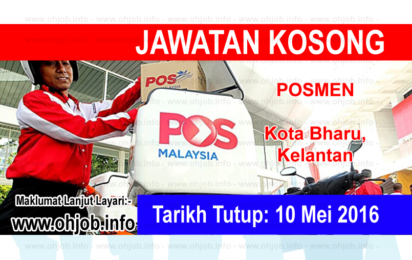 Jawatan Kerja Kosong Pos Malaysia Berhad logo www.ohjob.info mei 2016