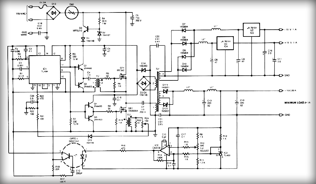 Multiple Output Smps Circuit
