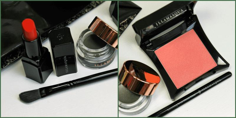 illamasqua blush sophie, illamasqua vintage metallix bibelot illamasqua lipstick soaked illamasqua smoothing brush review recenzija