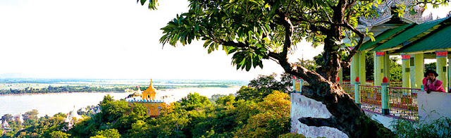 Sagaing view over the Irrawaddy