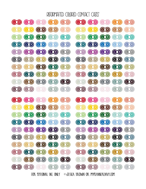 Free Printable Reformatted Colored Contact Case Icons from myplannerenvy.com