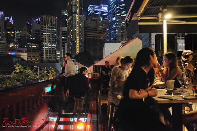 View back to the CBD from the rooftop terrace at Screening Room, Singapore.  Photo by Kent Johnson for Street Fashion Sydney.