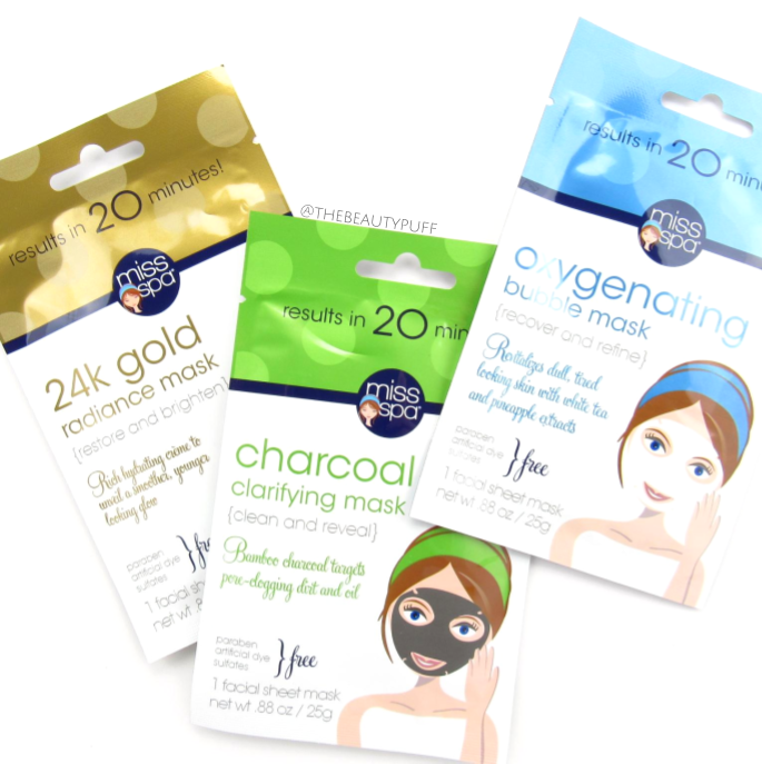 miss spa sheet masks | the beauty puff